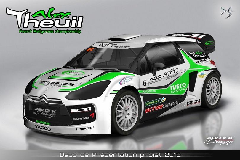 Citroën DS3 d'Alexandre Theuil : Déco de présentation pour la saison 2012